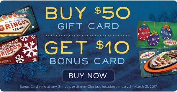 Gift Card Bonus Promotion
